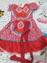Vestido de caipira infantil.