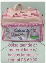 Bolsa grande saída maternidade rosa