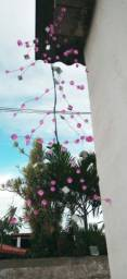 Pêndulo espelho solar e pedras  c/21