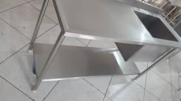 Mesa Pia Cozinha Industrial 1,50x0,60 Cuba 50x40x40 100% Inox