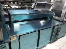 Balcão condimentador refrigerado 2 portas - 2,00 metros - Ricardo