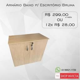 Armário Baixo p/ Escritório Bruma 1 Prateleira / Novo / NFE