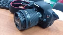 Câmera Canon T5i Kit com 18-55mm completa