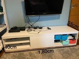 Rack para TV Tok Stok Branco Usado 1,80