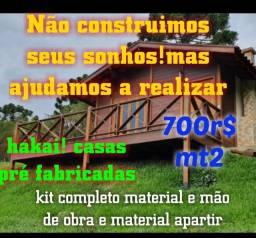 Casas pré fabricadas de pinos tratado com