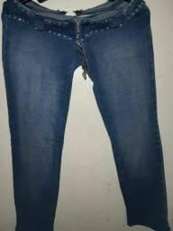 Calça jeans moletom com lycra lobiny tam 38