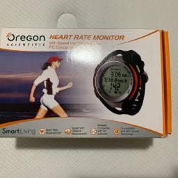 Monitor cardíaco marca Oregon, usado uma vez, em perfeito funcionamento
