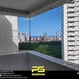 Apartamento com 3 dormitórios para alugar, por R$ 2.500/mês - Miramar - João Pessoa/PB