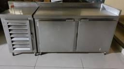 Freezer balcão inox