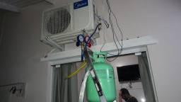 Instalação de ar condicionado novo ou usado.