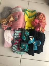Lote de roupas 10 a 12 anos feminino