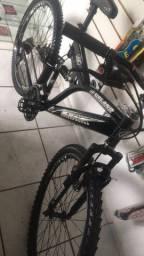 bicicleta MTB suspensão dupla aro 26 aceito cartões ??