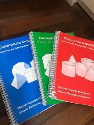 BOX- Geometria espacial- caderno de atividades- volumes 1, 2 e 3