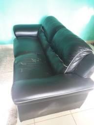Sofa 3 lugares couro