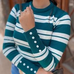Blusas tricô moda Evangélica