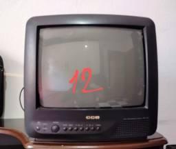"""Vendo tv tudo CCE 12"""" para concerto ou retirada de peças."""