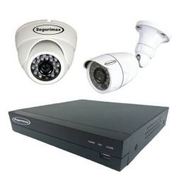 Vendo dvr + 2 cameras hd segurimax