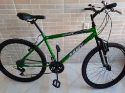 Bicicleta aro 26 amortecedor 18V semi nova