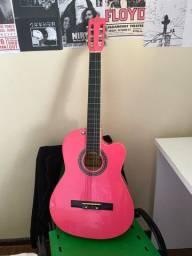 violão profissional rosa