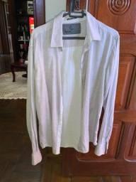Camisa social cinza tamanho m manga longa