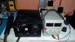 Estação de ar quente e Fonte de bancada