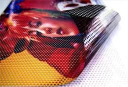 Adesivos micro perfurados