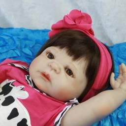 Boneca Bebê Reborn, Bebezinho, Bebe 100% Silicone