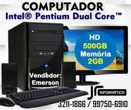 Computador Intel® Dual Core| 2Gb DDR3| HD 500GB| Monitor 3211-1866