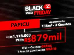 (JG) Apartamento Papicu,138m²3 Q, 1.118.000 P/ 879.000