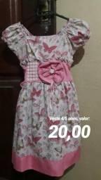 Vestido Infantil 4/5 anos