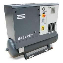 Compressor de Parafuso 15 HP- GA11-VSD-AFF ? 9bar ? C/Secador e Inversor ? Atlas Copco