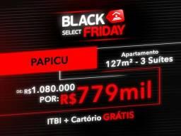 (JG) Apartamento Papicu, 127m², 3 Suites 1.080.000 P/ 779.000