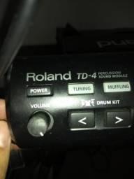 Bateria Eletrônica Roland TD 4 completa