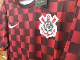 Camisa Corinthians pré jogo 19/20