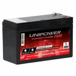 Bateria unipower Selada 12v 7ah para no-break e alarmes