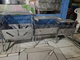 Promoção de natal churrasqueiras de alumínio desmontável