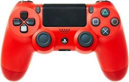 Controle ps4 vermelho