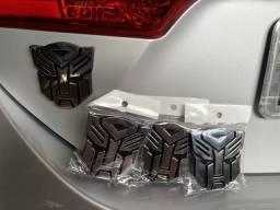 Logotipo Transformers Autobots Brasão 3D para caminhão carro moto com adesivo autocolante