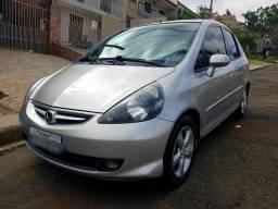 Honda fit automático lxl com airbag abs dvd câmera de ré excelente custo e benefício - 2007