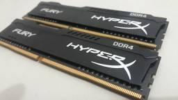 Memórias HyperX Fury ddr4 8gb, 2x4gb