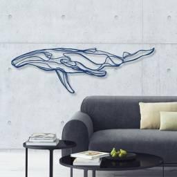 Quadro decorativo MDF modelo Baleia 01