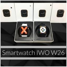 Relógio inteligente IWO 12 lite W26 tela infinita 44mm