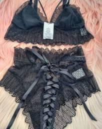 Vendo Conjunto de lingerie sensual em renda Lacradora. R$79,90 M e G