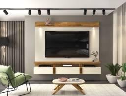 Painel Suspenso Lodi com Lâmpadas de LED p/ TV até 70' -Entrega Grátis