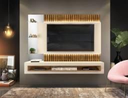 Painel Suspenso Retti com Fita de LED p/ TV até 60' 100% MDF - Entrega Grátis