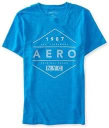 Camiseta Azul-ciano Aeropostale Masculina Gg