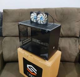 Gabinete Mini ITX SGPC K77 + 2 coolers Arctic F8