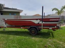 Barco Alumínio estilo BassBoat