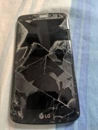 celular LG k10 tela quebrada