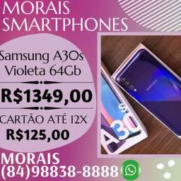 OFERTA - SAMSUNG A30S 64GB (COR VIOLETA) APARELHO COM NOTA FISCAL E GARANTIA DE FÁBRICA